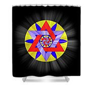 Star Of David Two Shower Curtain