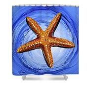 Star Of Mary Shower Curtain by J Vincent Scarpace