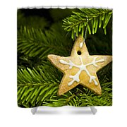 Star Shape Short Bread Cookie Shower Curtain