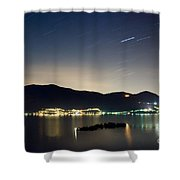 Star Trails Shower Curtain