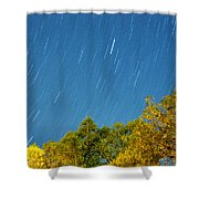 Star Trails On A Blue Sky Shower Curtain