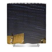 Star Trails Over Ljubljana Shower Curtain
