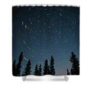 Star Trails, Sandilands Provincial Shower Curtain by Mike Grandmailson