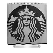 Starbuck The Mermaid In Black And White Shower Curtain