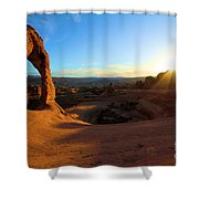 Starburst At Delicate Arch Shower Curtain