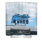 Stardust Diner Shower Curtain