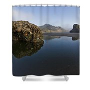 Starfish Beach Shower Curtain by Debra and Dave Vanderlaan