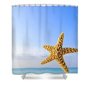 Starfish In Front Of The Ocean Shower Curtain
