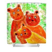 Stargazing Teddy Bears Shower Curtain