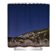 Starry Night At Durdle Door Shower Curtain