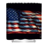 Stars And Stripes At Night Shower Curtain