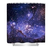 Stars And The Milky Way Shower Curtain