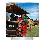 Start Her Up Its Thrashing Time Shower Curtain