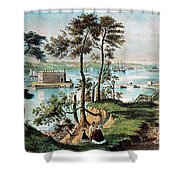 Staten Island And The Narrows, 20th Shower Curtain