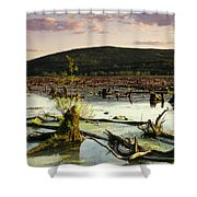 Stater Pond At Sunset Shower Curtain