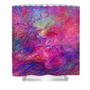 Static Words Shower Curtain