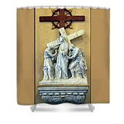 Station Of The Cross 02 Shower Curtain