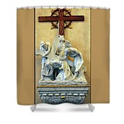 Station Of The Cross 03 Shower Curtain