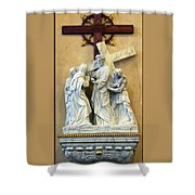 Station Of The Cross 04 Shower Curtain