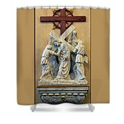 Station Of The Cross 05 Shower Curtain