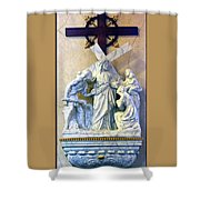 Station Of The Cross 08 Shower Curtain