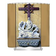 Station Of The Cross 09 Shower Curtain