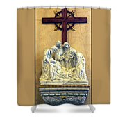 Station Of The Cross 14 Shower Curtain
