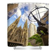 Statue And Spires Shower Curtain