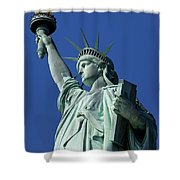Statue Of Liberty Shower Curtain by Brian Jannsen