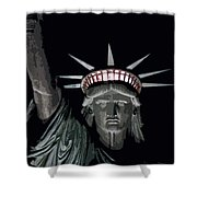 Statue Of Liberty Poster Shower Curtain