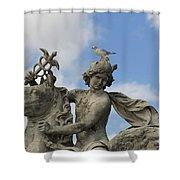 Statue . Place De La Concorde. Paris. France Shower Curtain