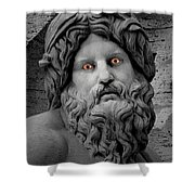 Statue With Eyes Shower Curtain