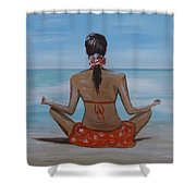 Staying Calm Shower Curtain