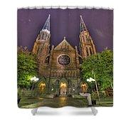 Ste. Anne De Detroit Shower Curtain by Nicholas  Grunas
