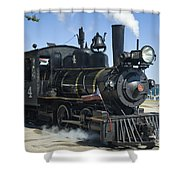 Steam Engine And Sailboats Shower Curtain