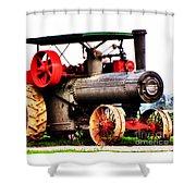 Steam Engine Tractor  Shower Curtain