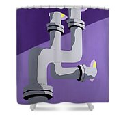 Steam Pipes Shower Curtain