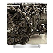 Steam Power Monochrome Shower Curtain