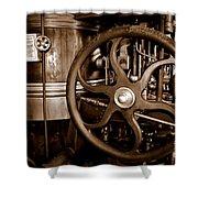 Steam Wheel Shower Curtain