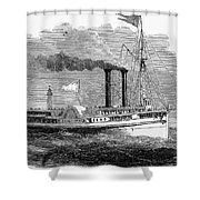 Steamboat, 1850 Shower Curtain