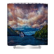 Steamboat On The Hudson River Shower Curtain