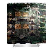 Steampunk - Naval - Electric - Lighting Control Panel Shower Curtain