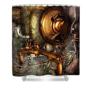 Steampunk - Naval - Shut The Valve  Shower Curtain