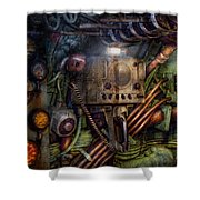 Steampunk - Naval - The Comm Station Shower Curtain