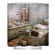 Steampunk - Retro - The Power Station Shower Curtain