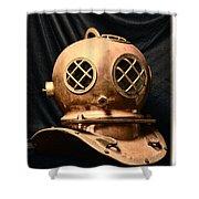 Steampunk - Diving - Diving Helmet Shower Curtain
