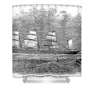 Steamship: Republic Shower Curtain
