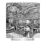 Steamship Salon, C1890 Shower Curtain by Granger