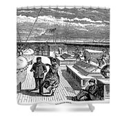 Steamships: Deck, 1870 Shower Curtain