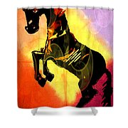 Steed 3 Shower Curtain